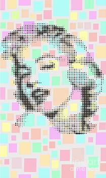 Marilyn On Colors Square by Rodolfo Vicente