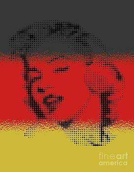 Marilyn On Germany Flag by Rodolfo Vicente