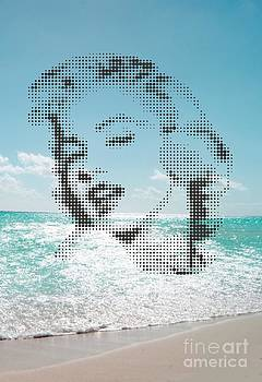 Marilyn On The Beach by Rodolfo Vicente