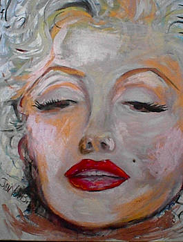 Marilyn with the red lips by Jan VonBokel