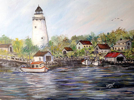 Marina at the Lighthouse by Dorothy Maier