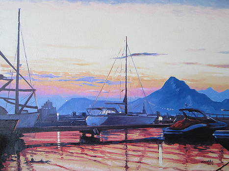 Marina di Olbia at sunset by Andrei Attila Mezei