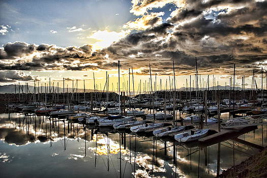 Marina Sunset by Gene Praag