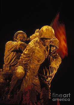 Marine Corps War Memorial at Night by Gregory Schultz