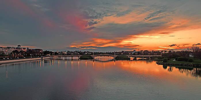 Marine Lake Sunset by Roger Green