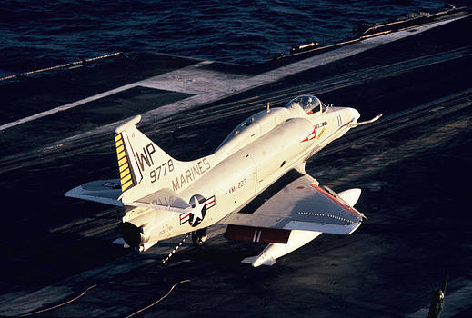 Marines - A-4E - U.S.S. Enterprise - 1976 by George Landers