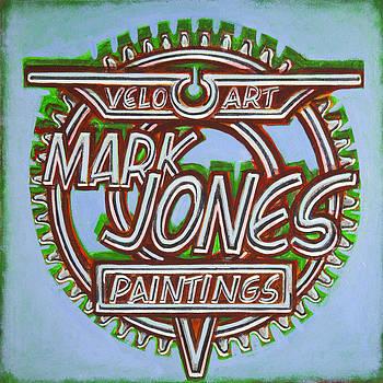 Mark Jones Velo Art Painting blue by Mark Jones