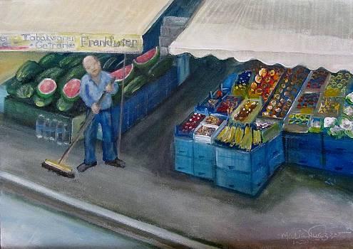 Marktstolz auf derGalenstraBe Gallows Street Frankfurt Germany by Maria Milazzo