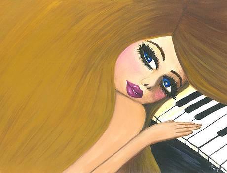Marlijn and the piano by Beril Sirmacek