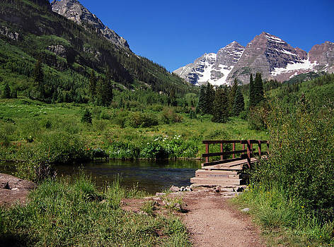 Maroon Bells in Summer 1 by Eneida Gastal-Keith
