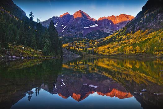 Maroon Mornings by Evan Ludes