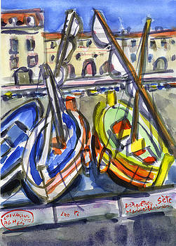 Marseille Boats by Chevassus-agnes Jean-pierre