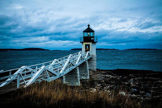 Marshall Point Light at Dusk 2 by David Smith