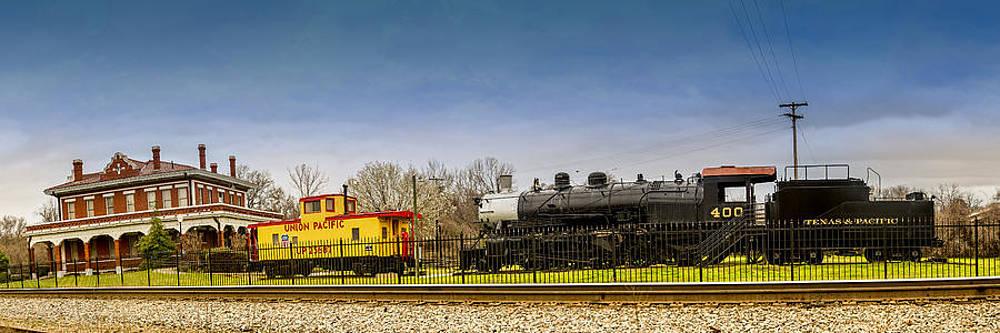 Marshall Texas Historic Train Depot by Geoff Mckay