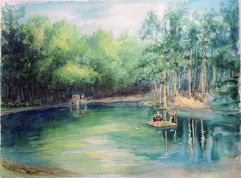Marshallville Swimming Hole by Edna Garrett