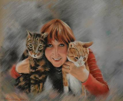 Martha with Tigni  Gingi by Tony Calleja