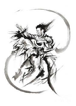 Martial arts poster. by Mariusz Szmerdt
