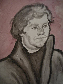 Martin Luther Watercolor by Jeremiah Cook