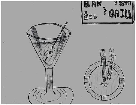 Martini Break At The Bar And Grill by Shaunna Juuti