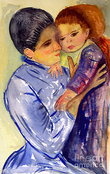 Donna Walsh - Mary Cassatt Helene de Septeuil in watercolor