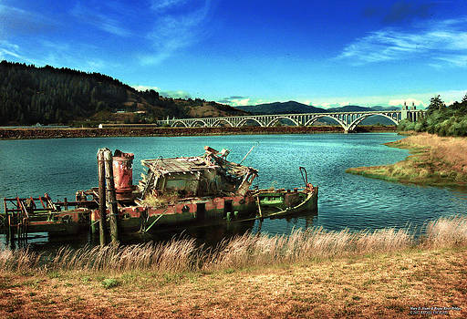 Mary D. Hume and Rogue River Bridge by Rafael Escalios