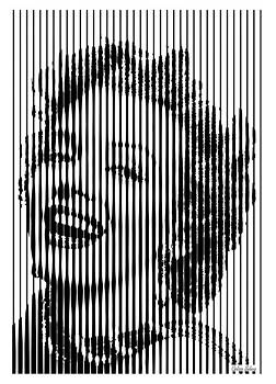 Marylin Monroe Op art by Celso Maria