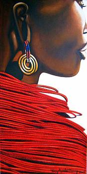 Masai Bride - Original Artwork by Tracey Armstrong