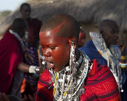 Masai child at wedding by Joel Lieberman