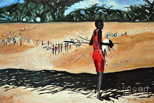 Masai Goat Herder by Amy Fearn