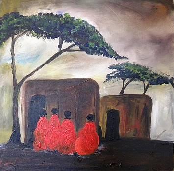 Masai Neighbors by Muwumba