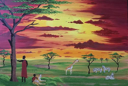 Masai Safari by Paula Marley