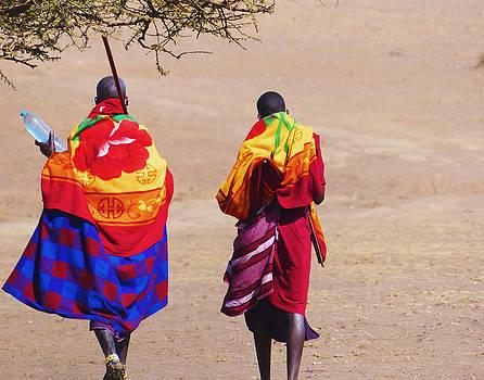 Masai Warriors by Carl Sheffer