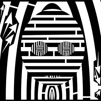 Mask Maze  by Yonatan Frimer Maze Artist