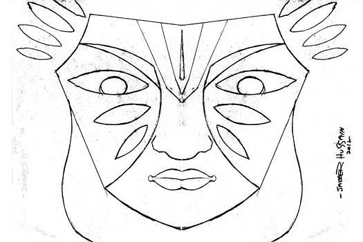 Mask of Kerala by Jakeer Hussain