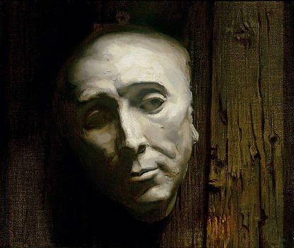 Mask on Wood by William  Zwick