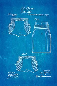 Ian Monk - Mason Fruit Jar Patent Art 1870 Blueprint