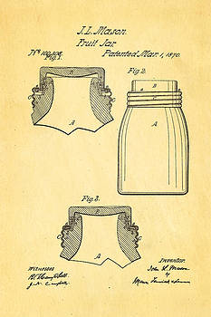Ian Monk - Mason Fruit Jar Patent Art 1870