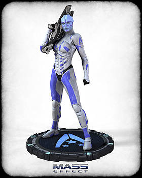 Mass Effect - Asari Alliance Soldier by Frederico Borges