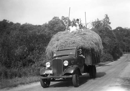 Massachusetts Hay Truck by Henri Bersoux