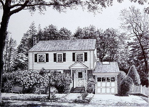 Hanne Lore Koehler - Massachusetts House Drawing