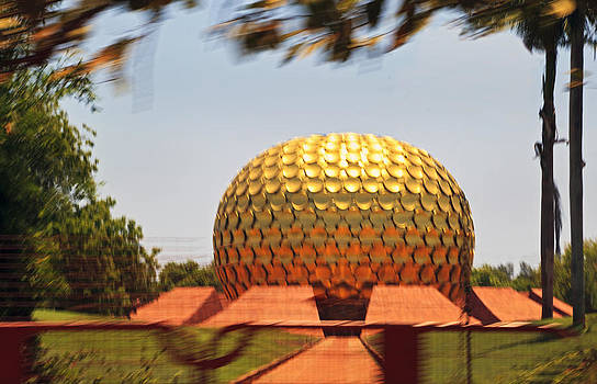 Kantilal Patel - Matramandir Auroville from a moving bus