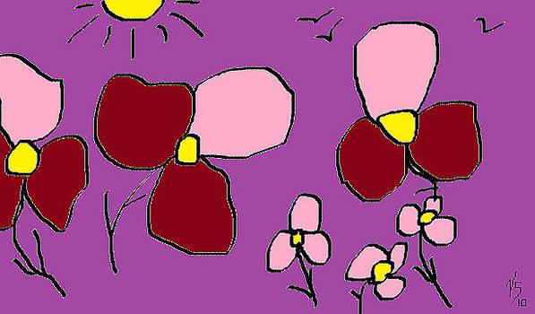 Mauve Flowers by Vivian Sutherland