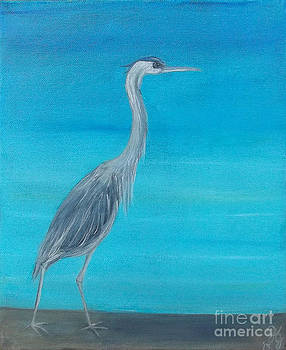 Max' Blue Heron by Georgia Griffin
