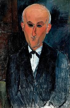 Amedeo Modigliani - Max Jacob, C.1916-17 Oil On Canvas