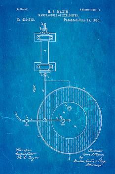 Ian Monk - Maxim Explosives Patent Art 1890 Blueprint