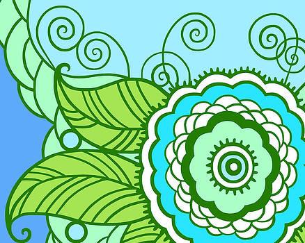 Nancy Lorene - MAY FLOWER Cool Blue Green