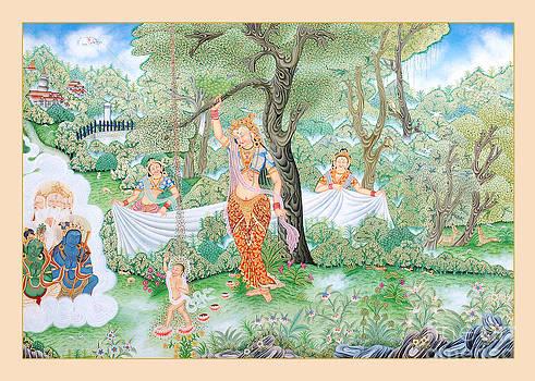 Maya Devi and Buddha by Ts
