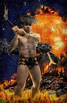 Mayan Fire God by John Clum