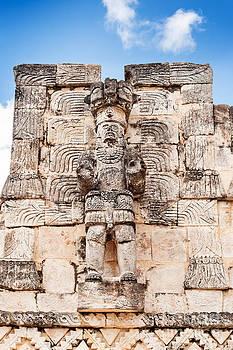 Jo Ann Snover - Mayan warrior statue