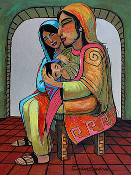 Mayan With Child by Carlos Sandoval